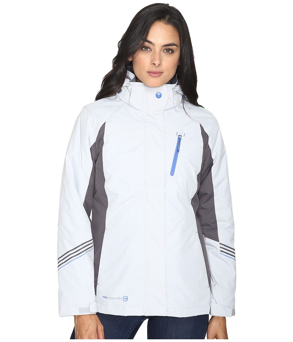 Free Country - Radiance 3-in-1 System Jacket with Detachable Hood (Winter Silver/Mineral Grey/Citi Blue) Women's Coat
