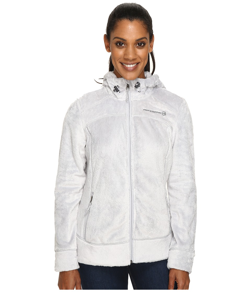 Free Country - Hooded Butterpile Jacket (Winter Silver) Women's Coat