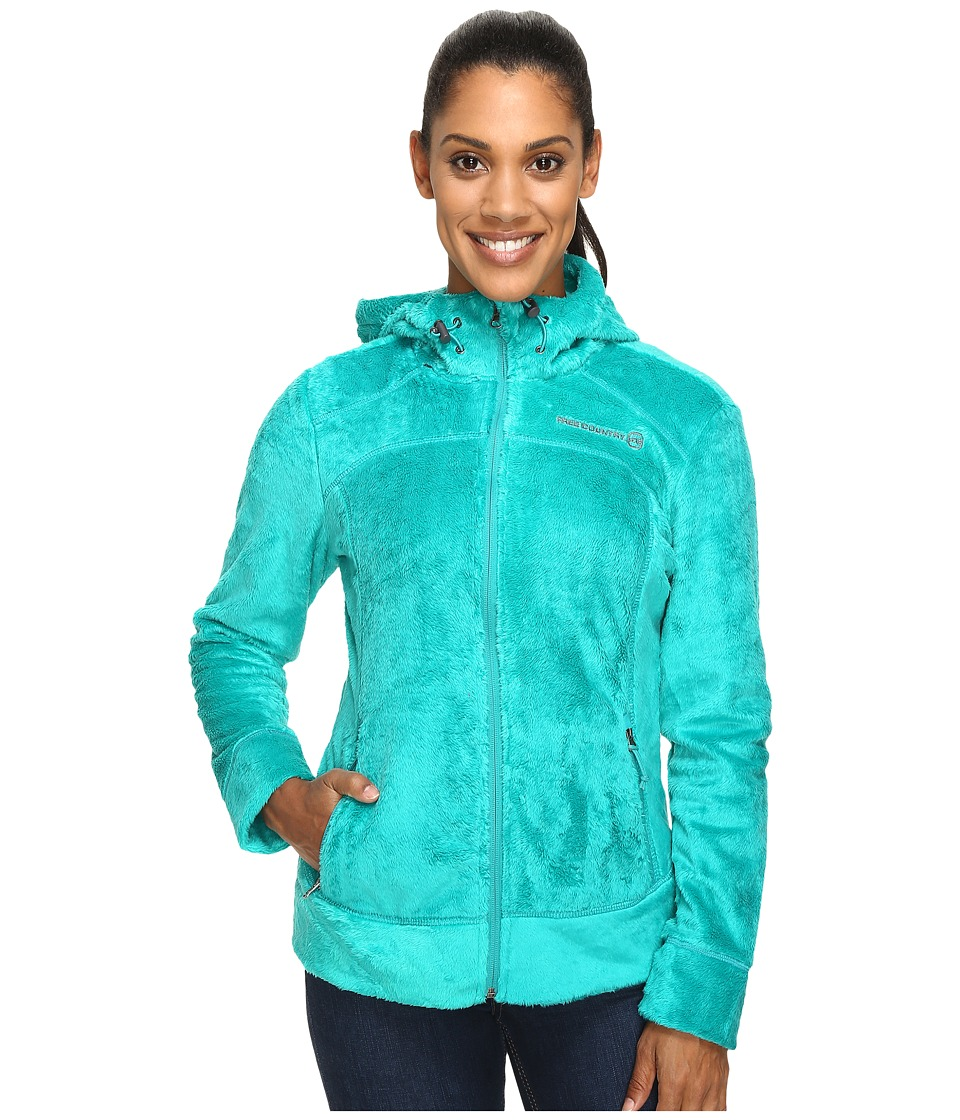 Free Country - Hooded Butterpile Jacket (Cancun Green) Women's Coat