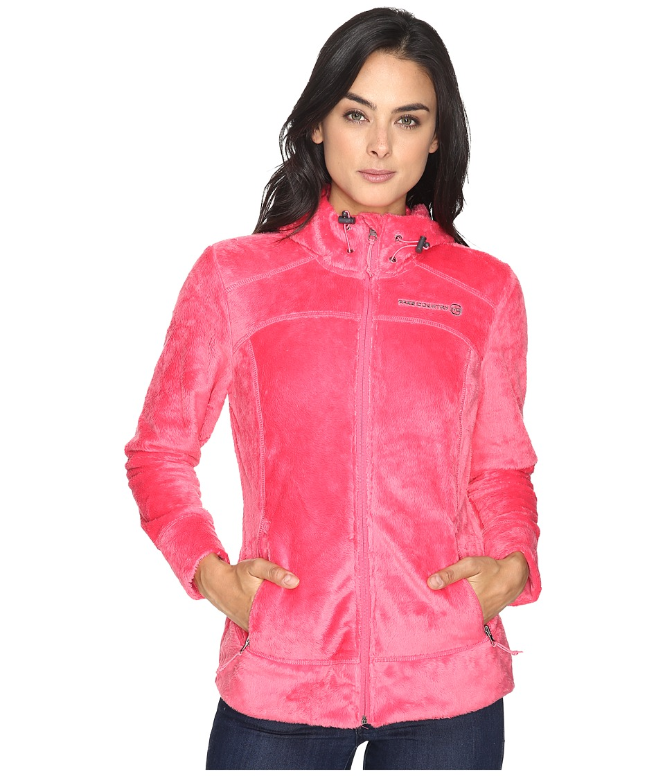 Free Country - Hooded Butterpile Jacket (Coral Blush) Women's Coat