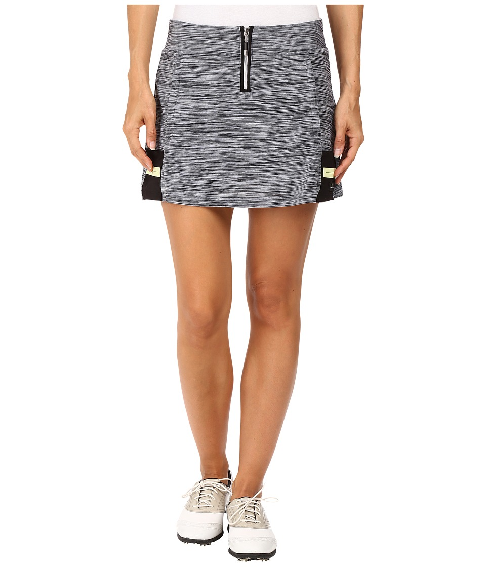 Jamie Sadock - Marled Knit 14 in. Pull-On Skort (Heathered Black/White) Women's Skort