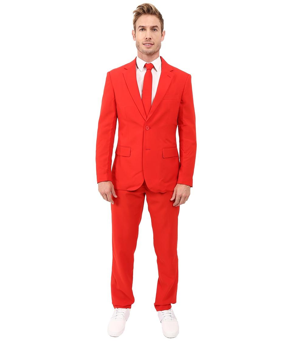 OppoSuits - Red Devil Suit (Medium Red) Men's Suits Sets