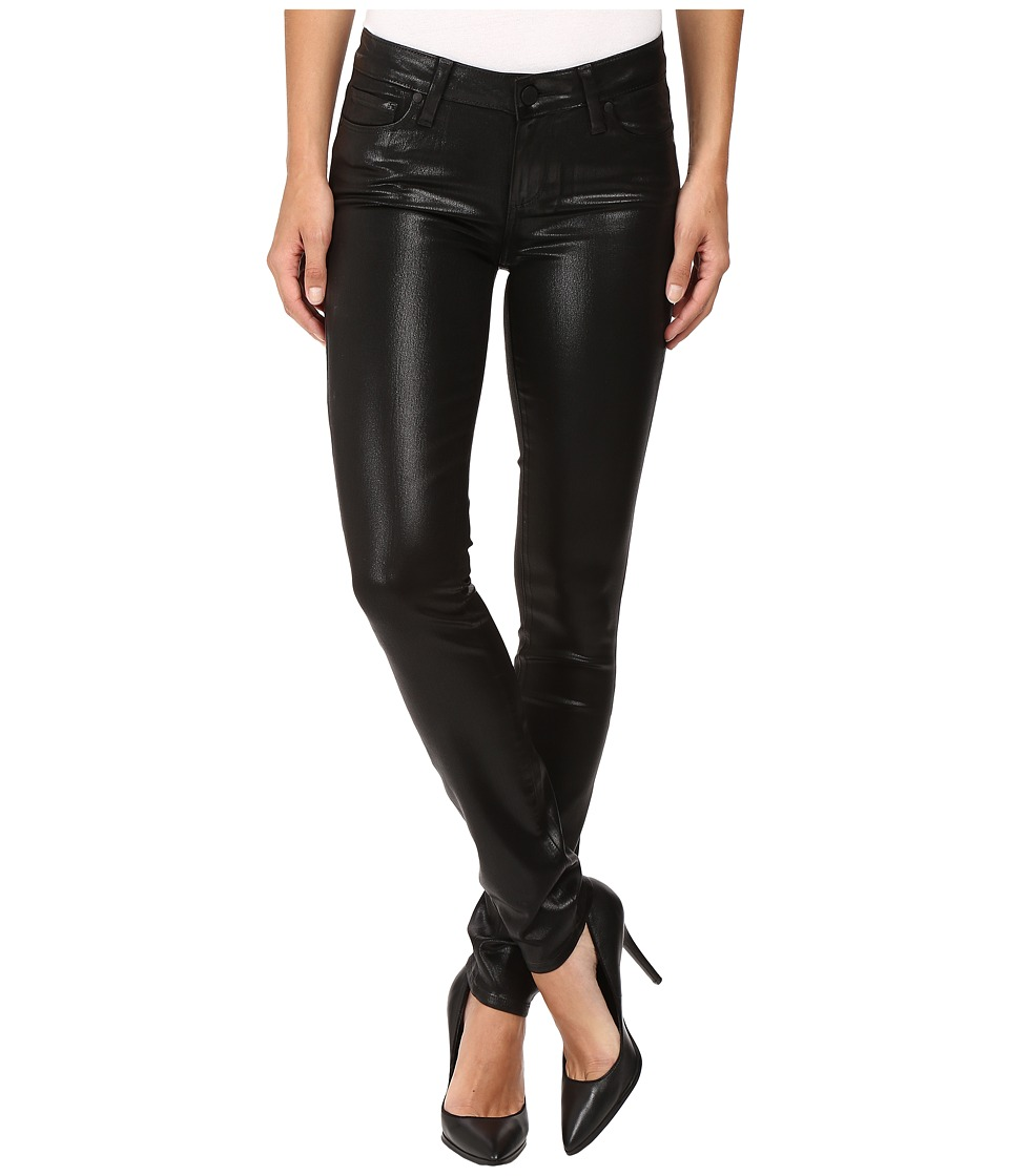 Paige - Verdugo Ultra Skinny in Black Fog Luxe Coating (Black Fog Luxe Coating) Women's Jeans