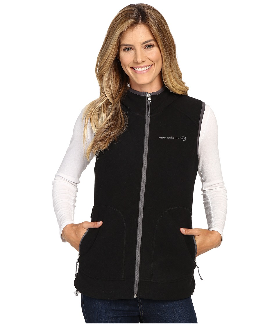 Free Country - Fleece Vest (Black Solid) Women's Vest