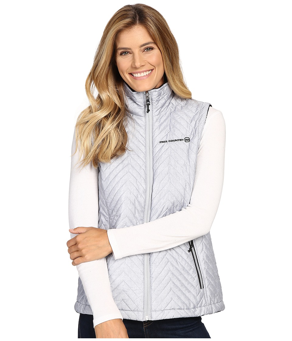 Free Country - Reversile Vest with Butter Pile (Winter Silver Combo/Black) Women's Vest