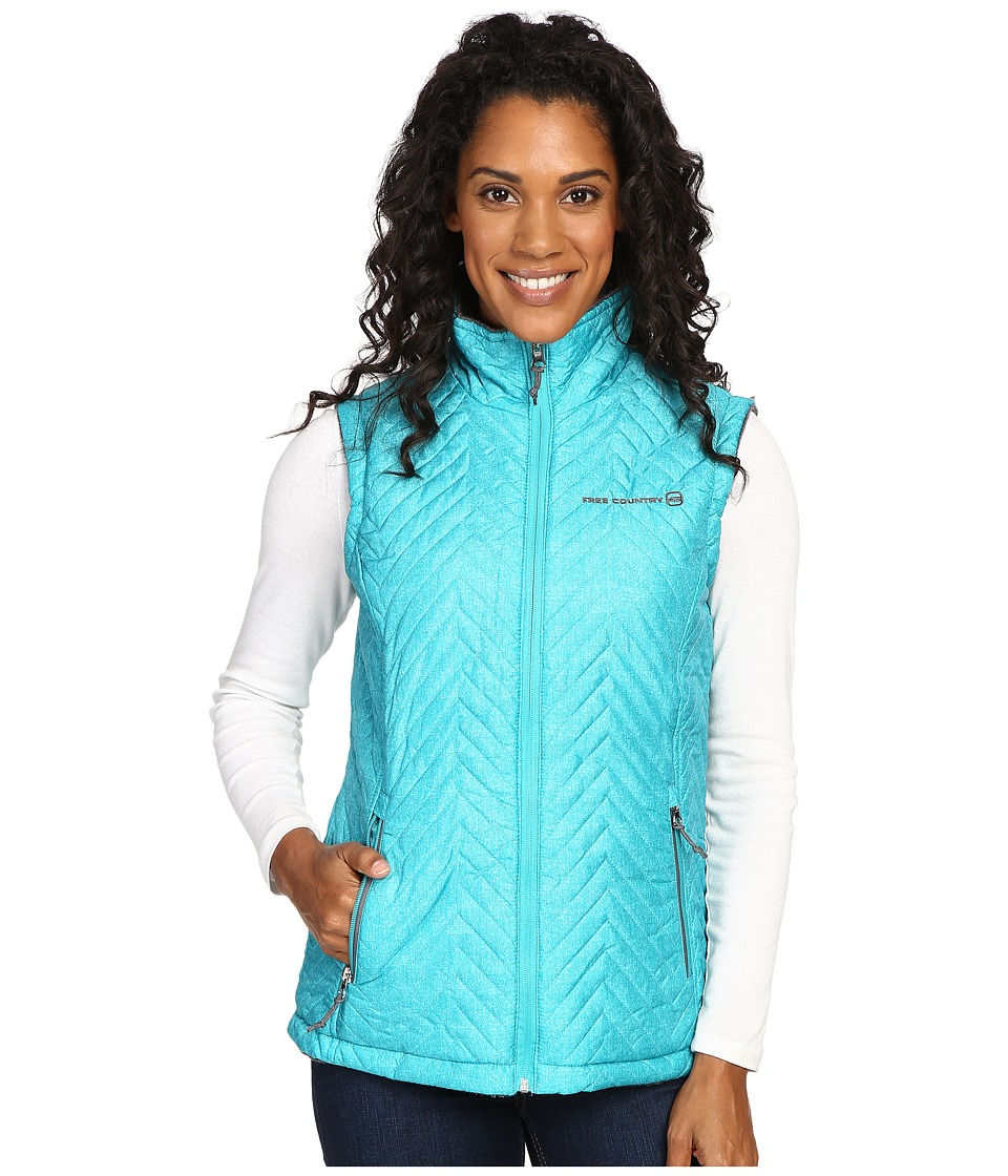 Free Country - Reversile Vest with Butter Pile (Cancun Green Combo/Mineral Grey) Women's Vest