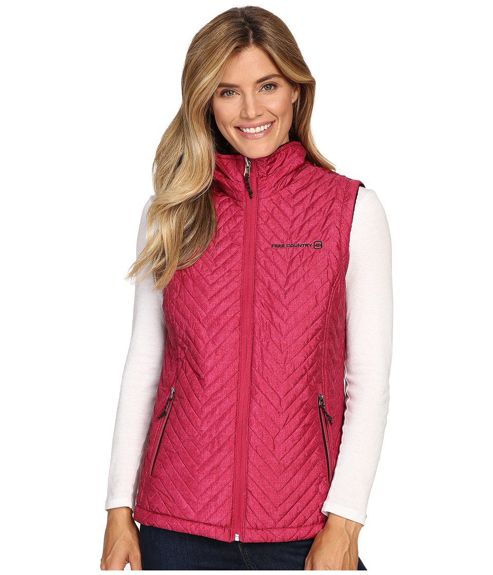 Free Country - Reversile Vest with Butter Pile (Crimson Rose Combo/Black) Women's Vest