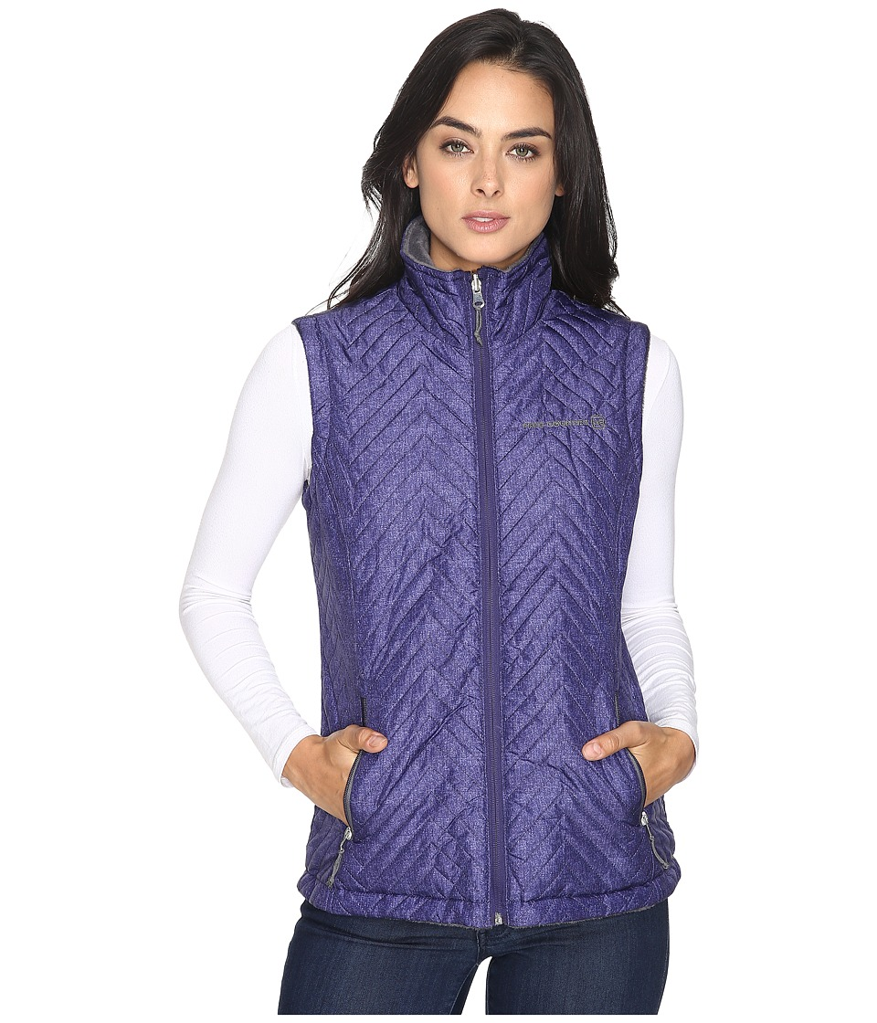 Free Country - Reversile Vest with Butter Pile (Purple Edge Combo/Mineral Grey) Women's Vest