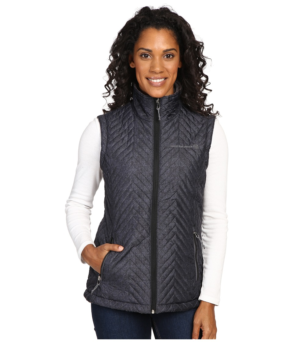 Free Country - Reversile Vest with Butter Pile (Black Combo/Mineral Grey) Women's Vest