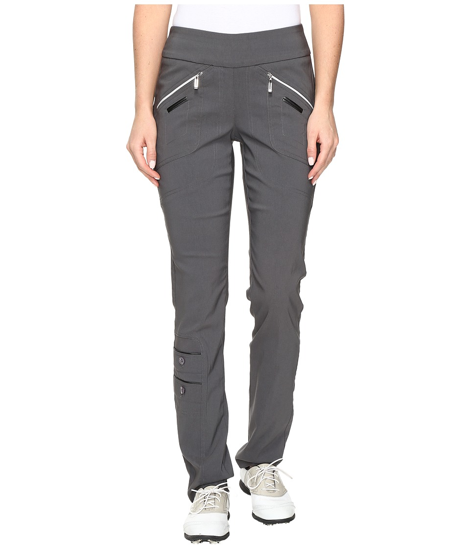 Jamie Sadock - Skinnylicious 41.5 in. Pant with Control Top Mesh Panel (Licorice) Women's Casual Pants