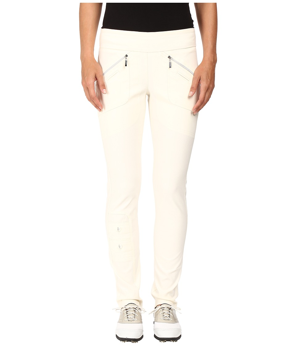 Jamie Sadock - Skinnylicious 41.5 in. Pant with Control Top Mesh Panel (Zen Cream) Women's Casual Pants