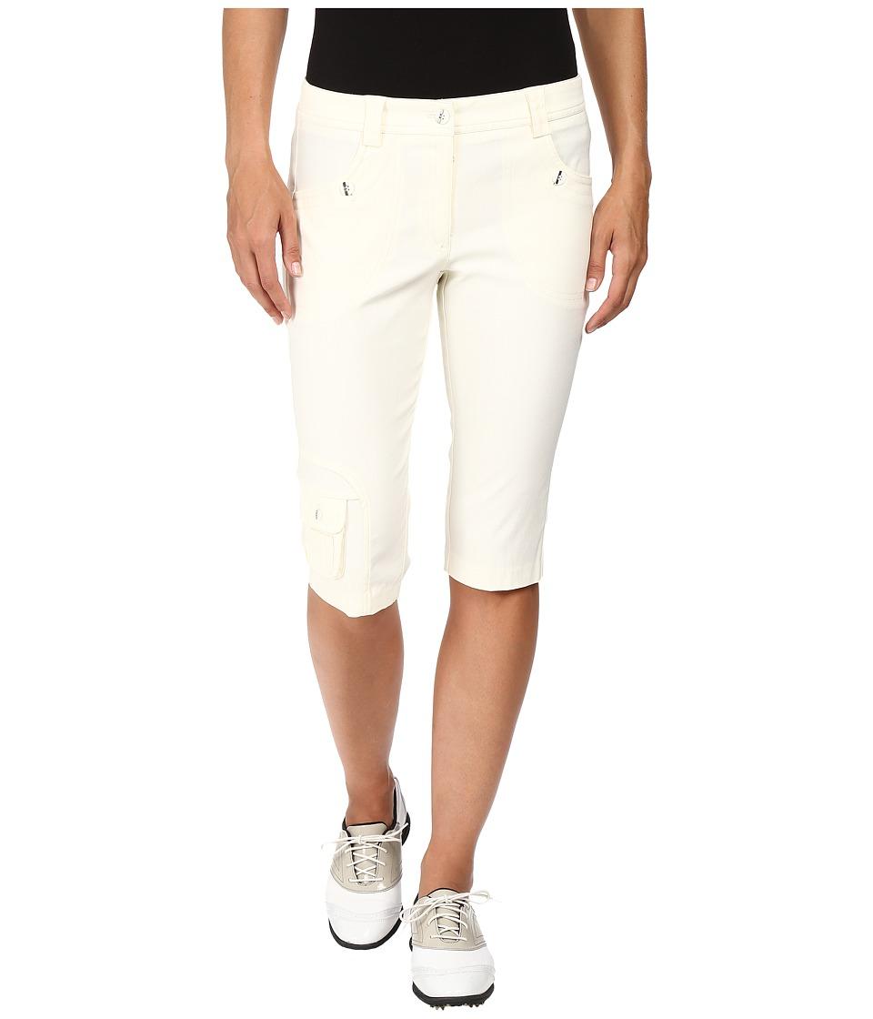 Jamie Sadock - Fly Front 24 Knee Capris (Zen Cream) Women's Capri
