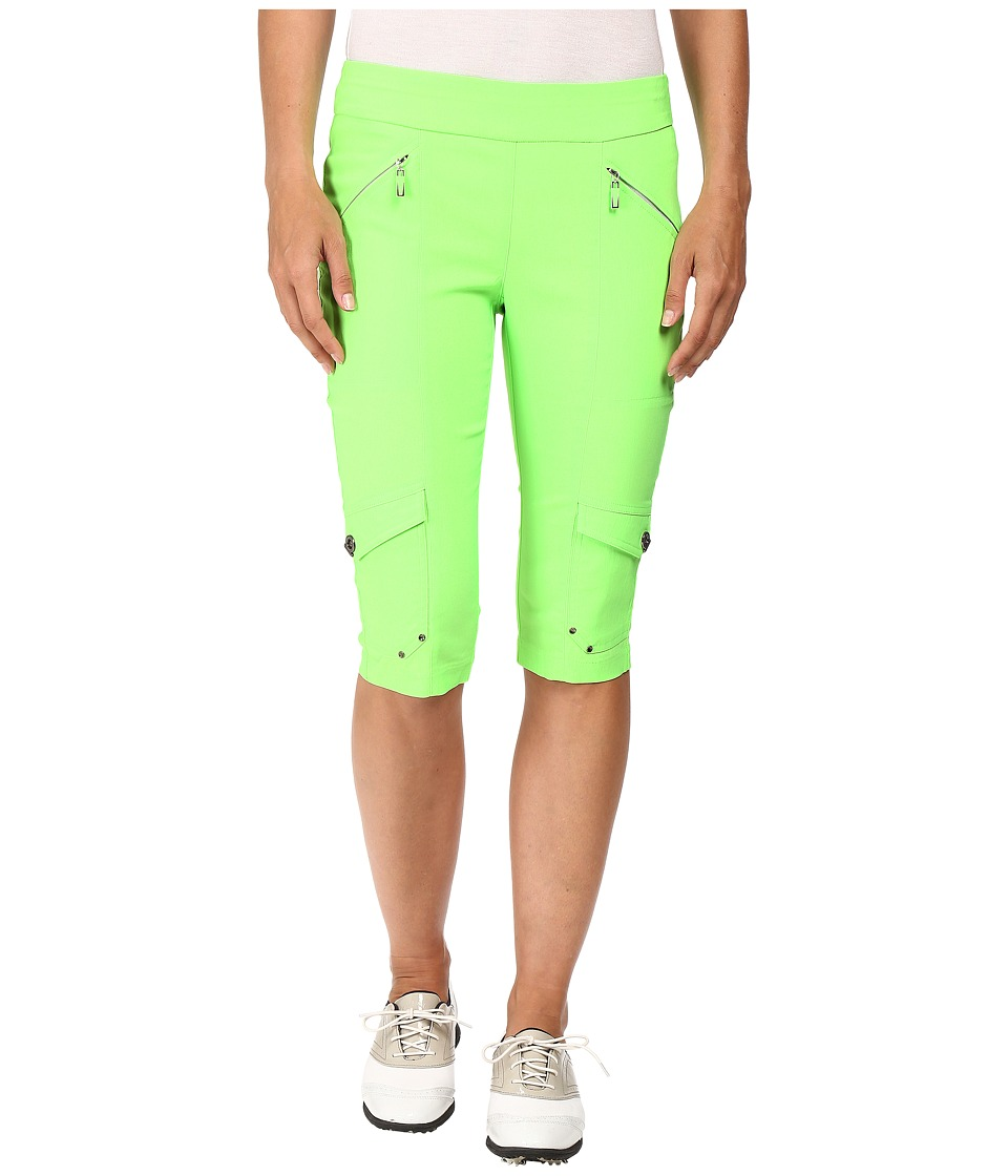 Jamie Sadock - Skinnylicious 24 in. Knee Capri (Kryptonite Green) Women's Capri