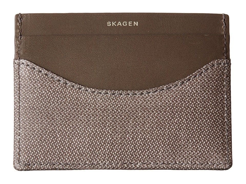 Skagen - Torben Card Case (Dark Heather Gray) Credit card Wallet