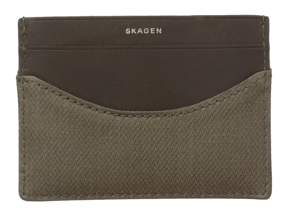 Skagen - Torben Card Case (Olive) Credit card Wallet