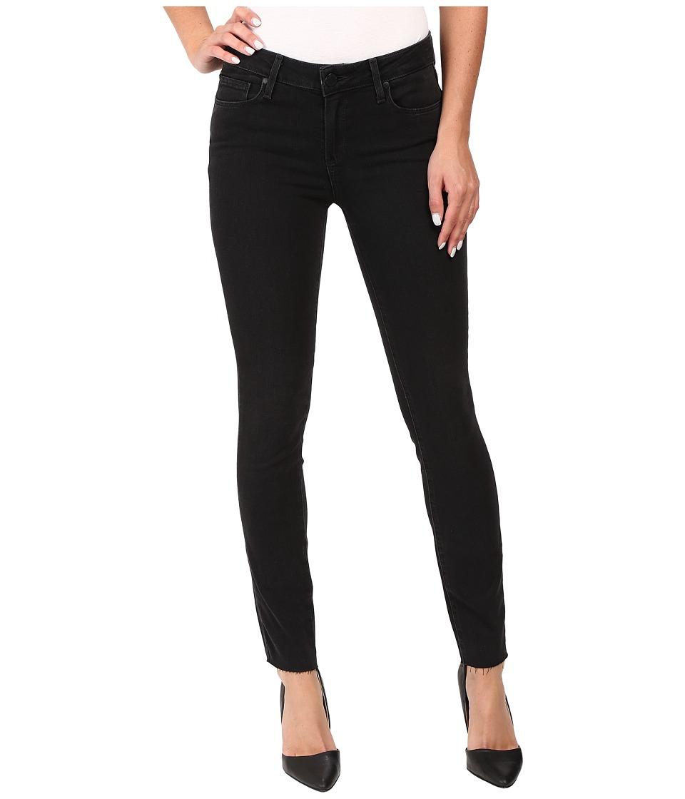 Paige - Verdugo Ankle w/ Raw Hem in Black Fog (Black Fog) Women's Jeans