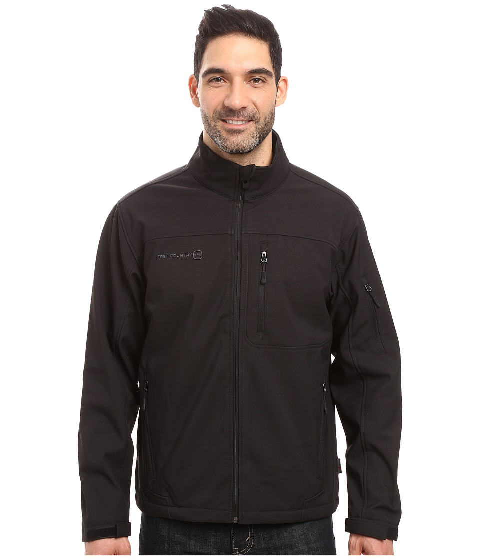 Free Country - Softshell Color Block (Black) Men's Coat