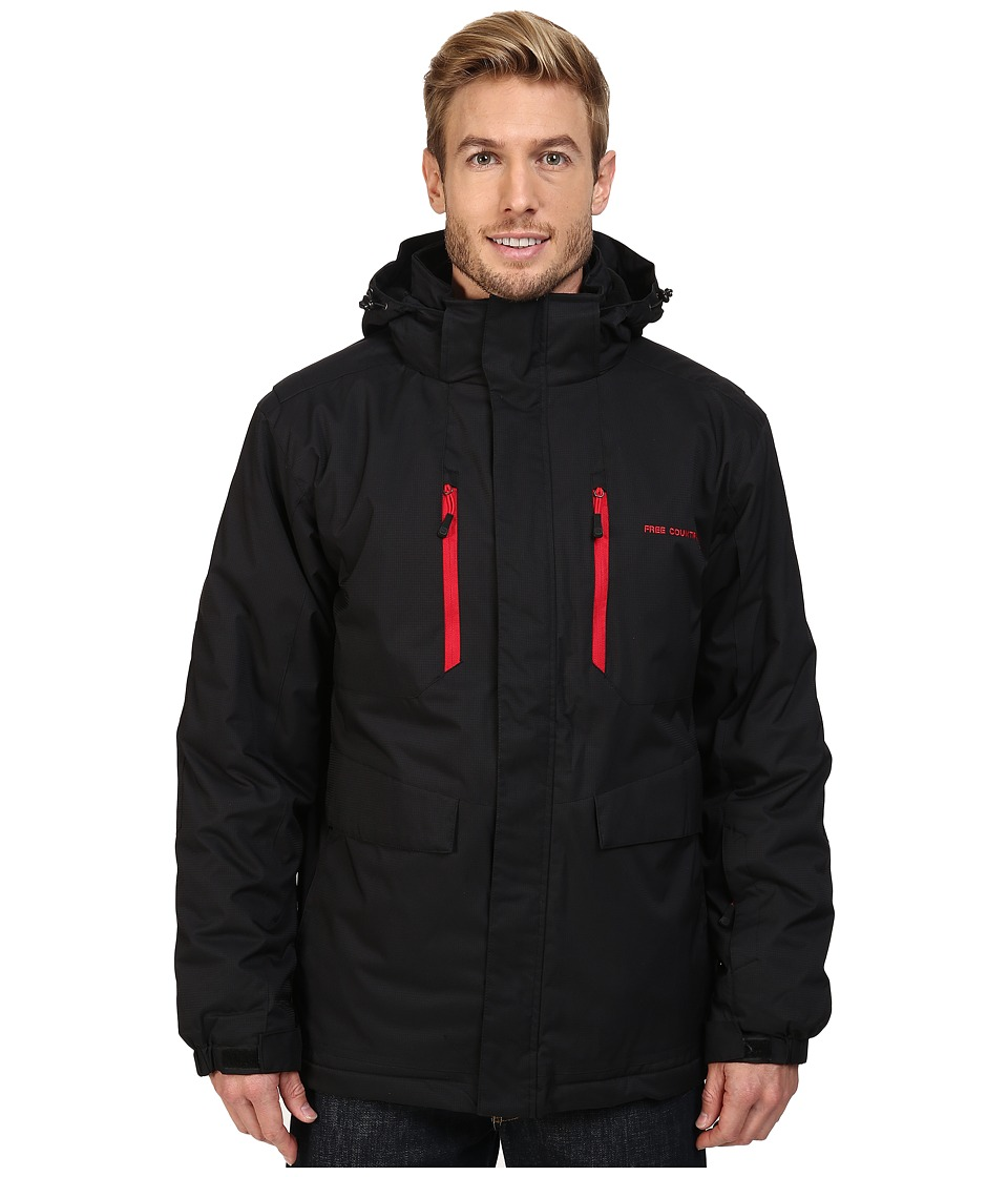 Free Country - Cubic Dobby System s (Black) Men's Coat