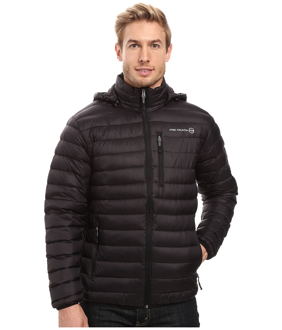 Free Country - Down Puffer Packable (Black) Men's Coat