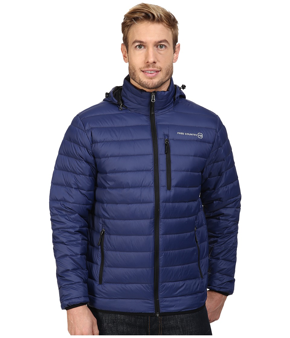 Free Country - Down Puffer Packable (Navy) Men's Coat