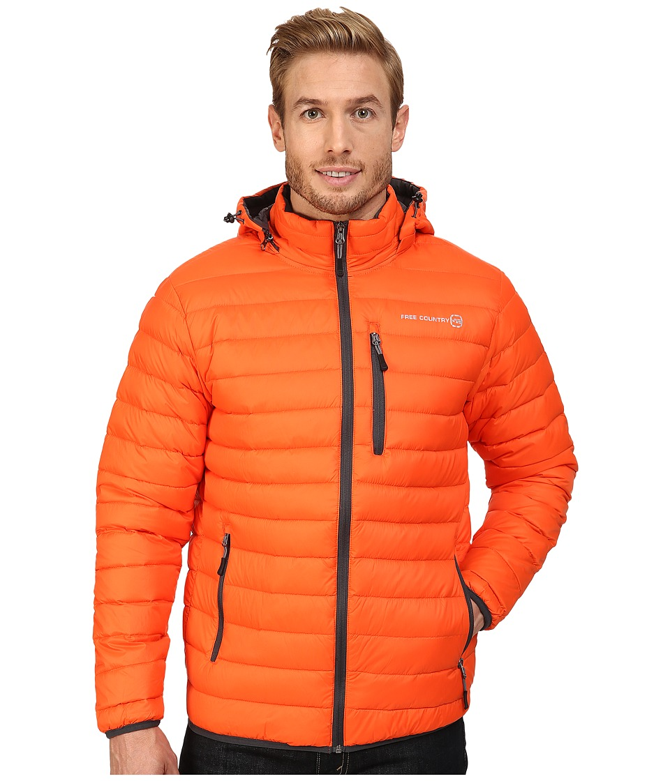 Free Country - Down Puffer Packable (Orange Shock) Men's Coat
