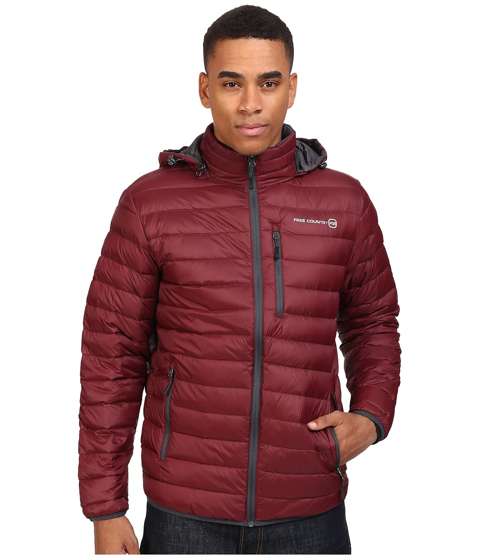 Free Country - Down Puffer Packable (Wine Gravity) Men's Coat