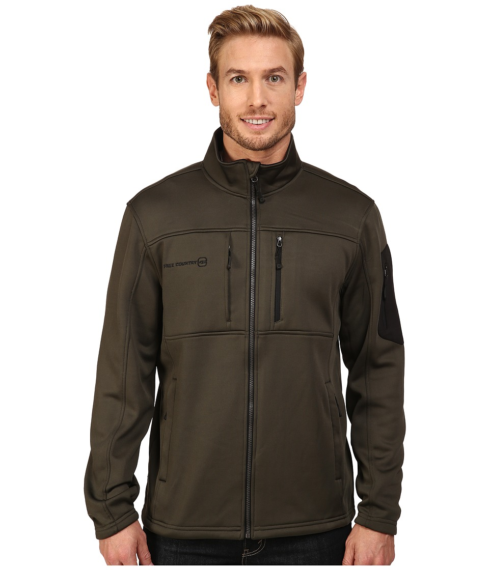 Free Country - Micro Tech Fleece (Dark Olive/Black) Men's Coat