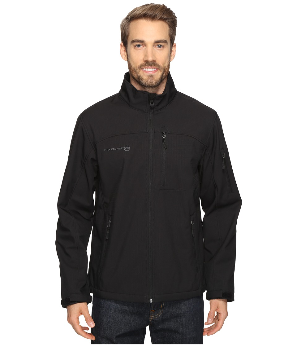 Free Country - Cubic Dobby Softshell (Black) Men's Coat