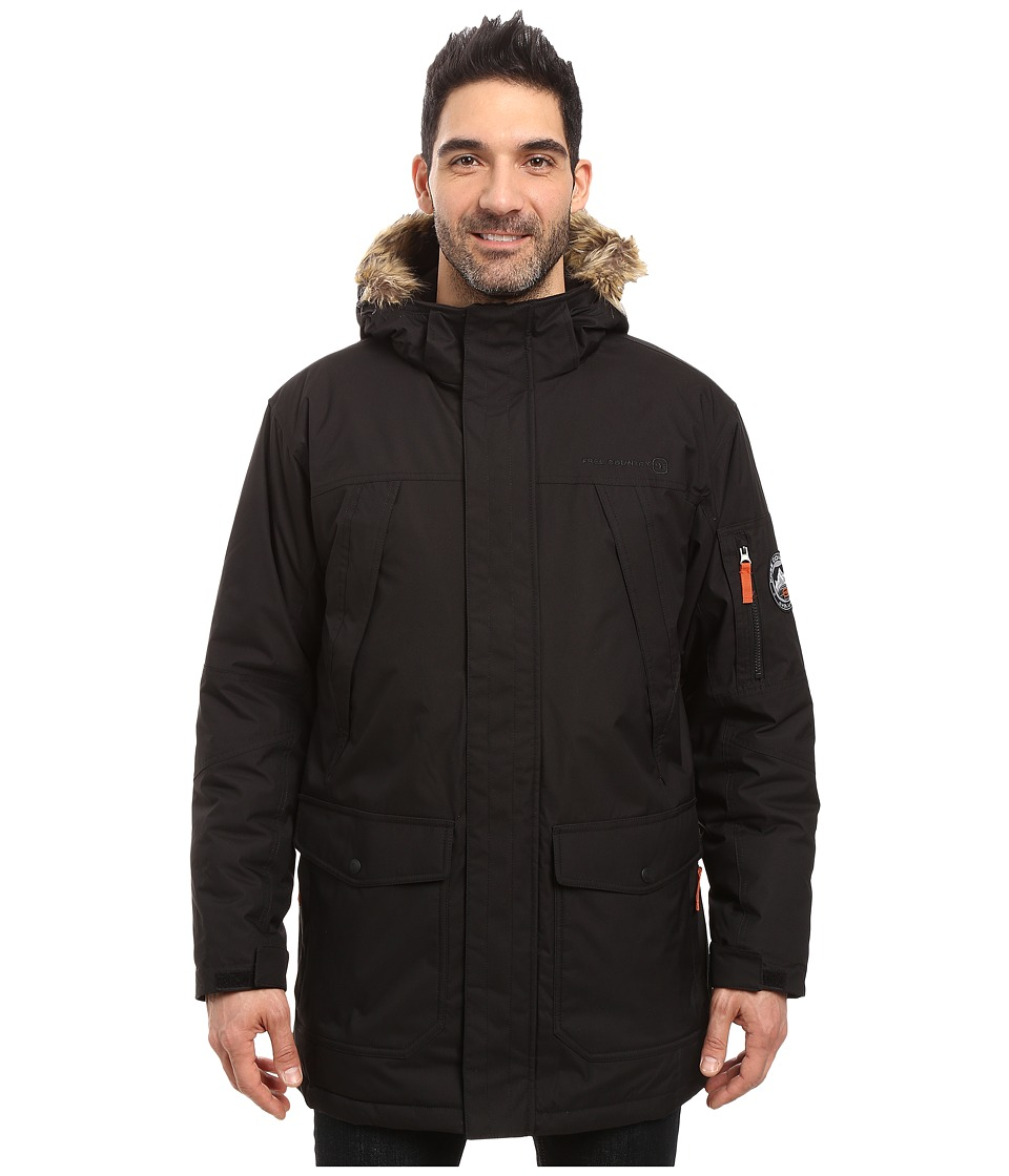 Free Country - Poly Canvas (Black) Men's Coat