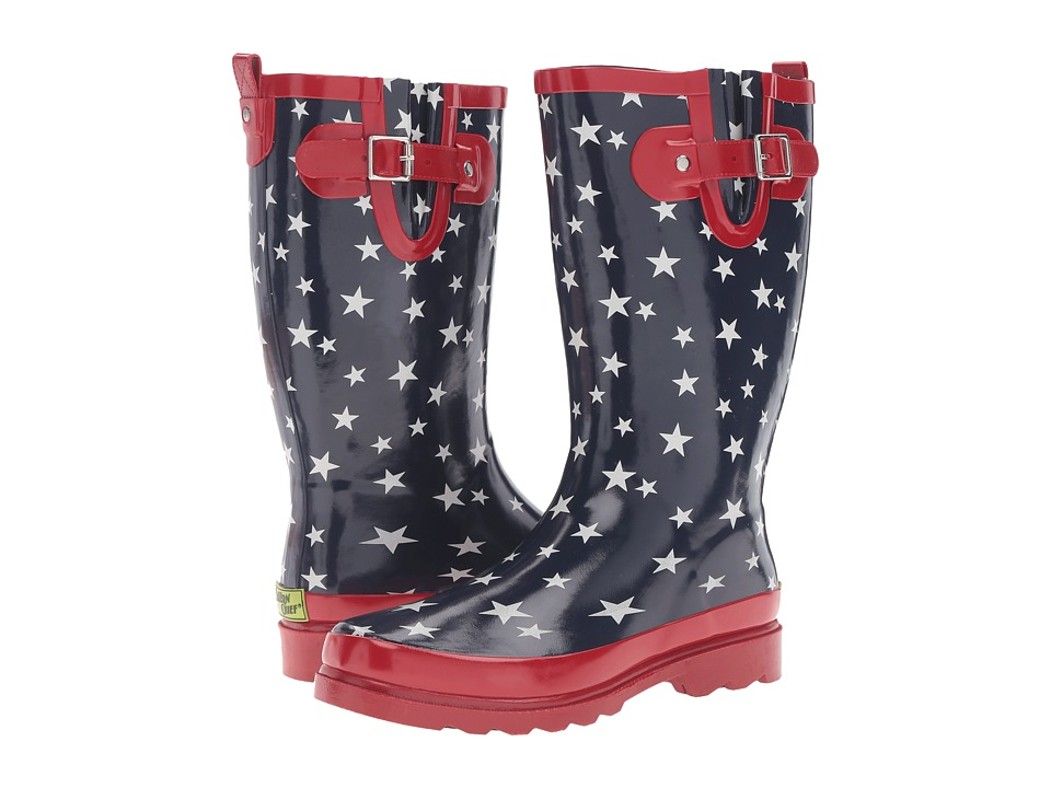 Western Chief - Patriotic Stars (Navy) Women's Shoes