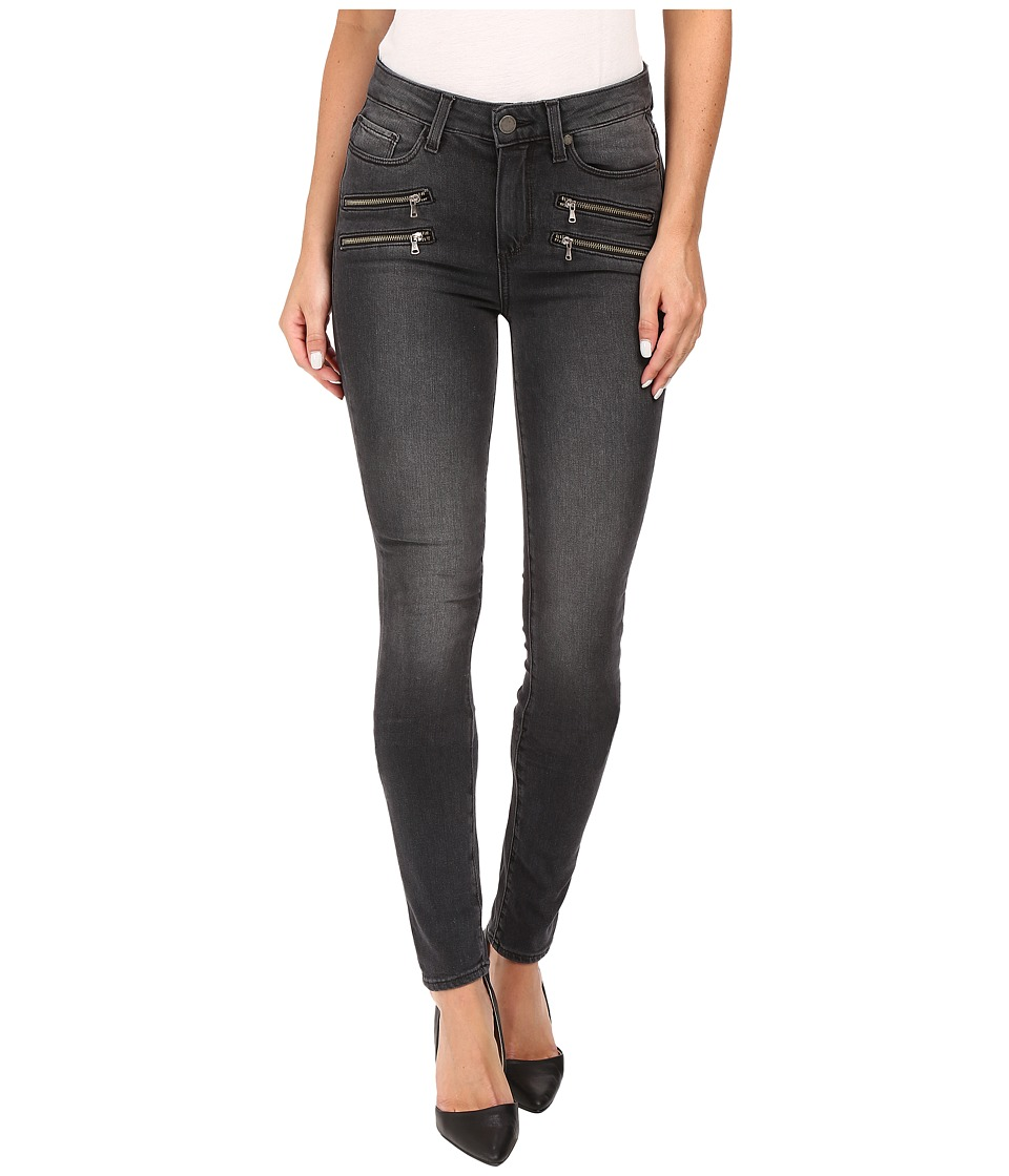Paige - High Rise Edgemont Ultra Skinny in Smoke Grey (Smoke Grey) Women's Jeans