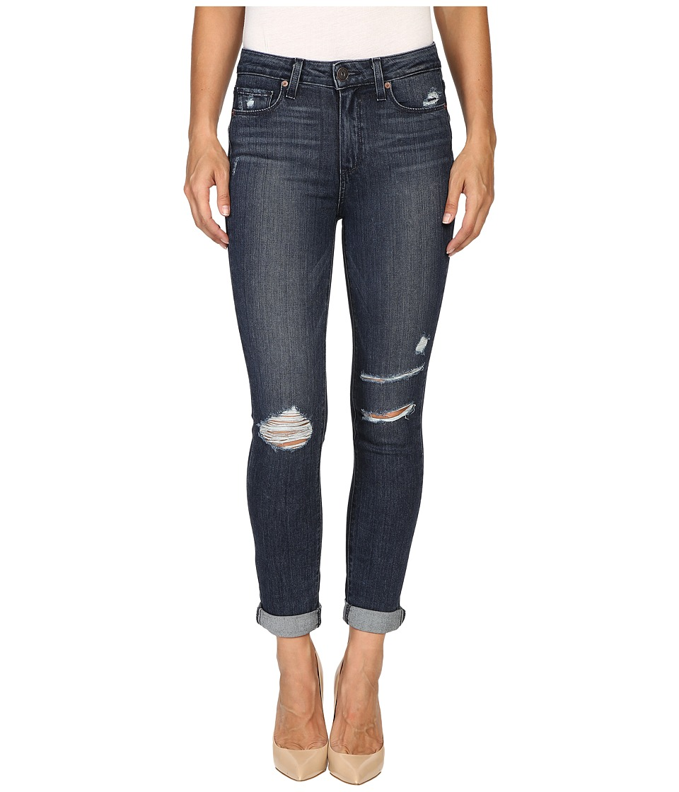 Paige - Hoxton Crop Roll Up in Valera Destructed (Valera Destructed) Women's Jeans