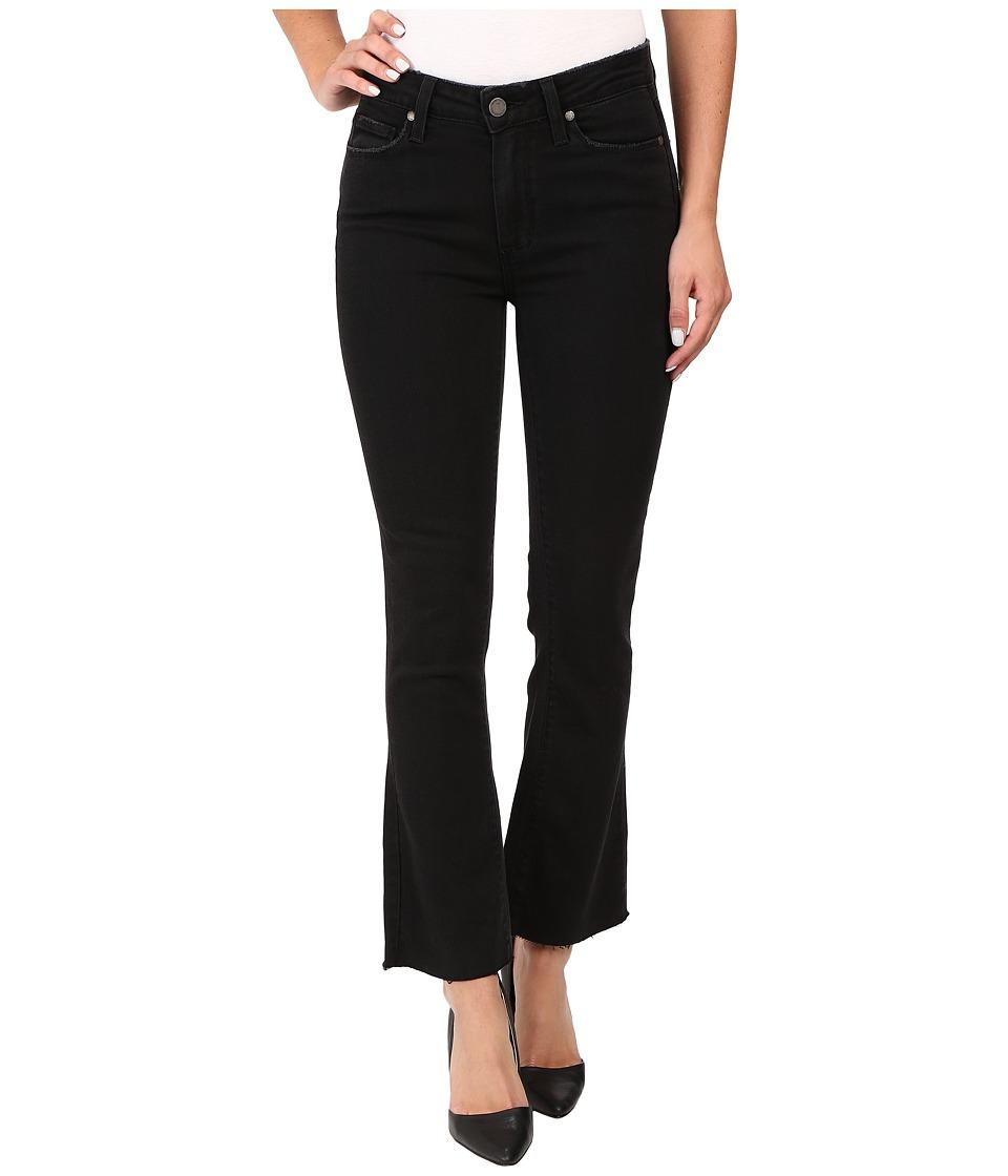 Paige - Colette Crop Flare w/ Raw Hem in Vintage Black (Vintage Black) Women's Jeans