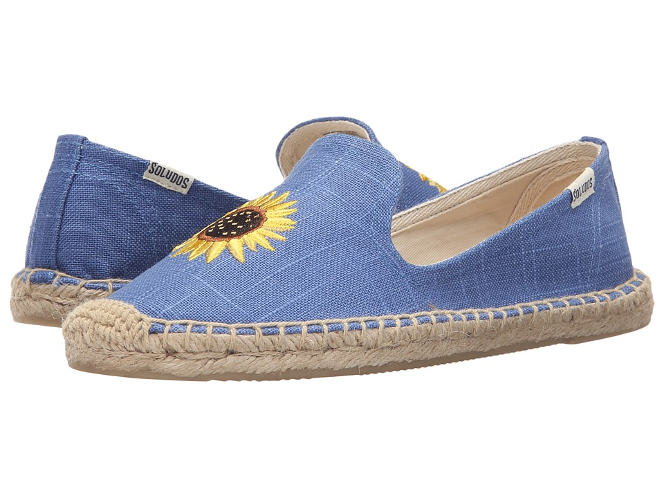 Soludos - Embroidered Smoking Slipper (Ultramarine Cotton Canvas) Women's Slippers