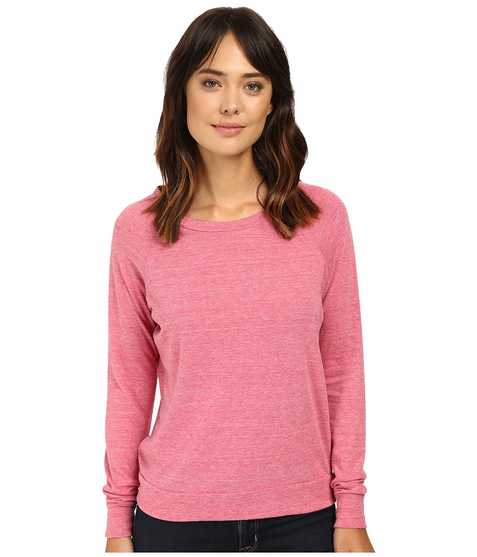 Alternative - Eco-Heather Slouchy Pullover (Eco Summer Berry) Women's Long Sleeve Pullover