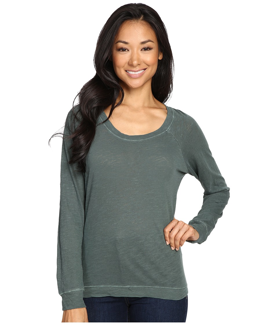 Alternative Washed Slub Slouchy Pullover (Dusty Pine) Women