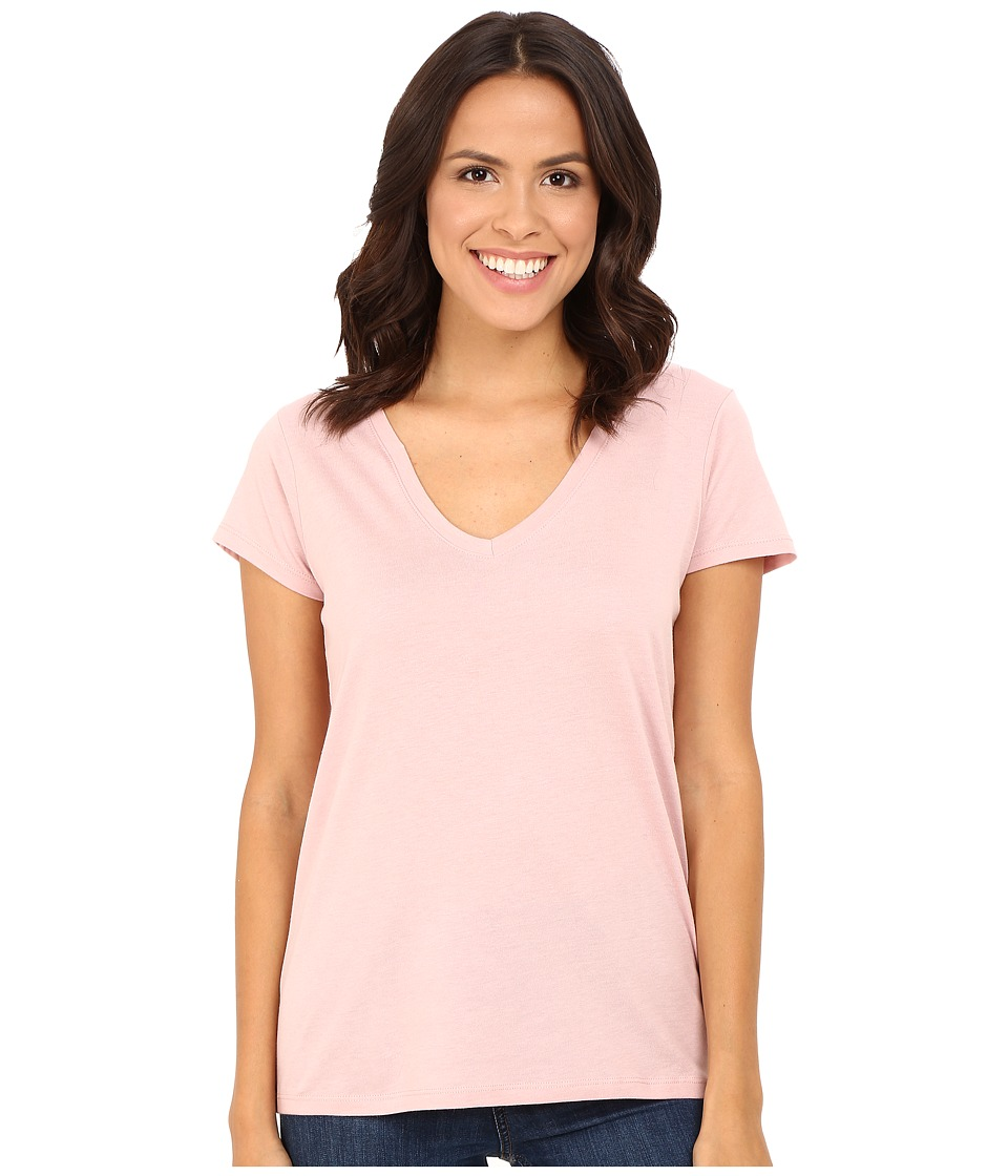Alternative - Cotton Modal Everyday V-Neck (Rose Quartz) Women's Clothing