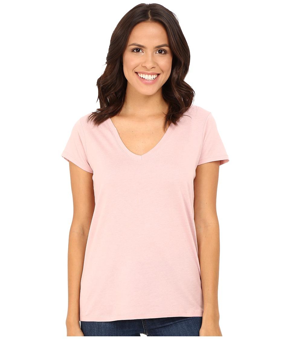 Alternative - Cotton Modal Everyday V-Neck (Rose Quartz) Women's Clothing