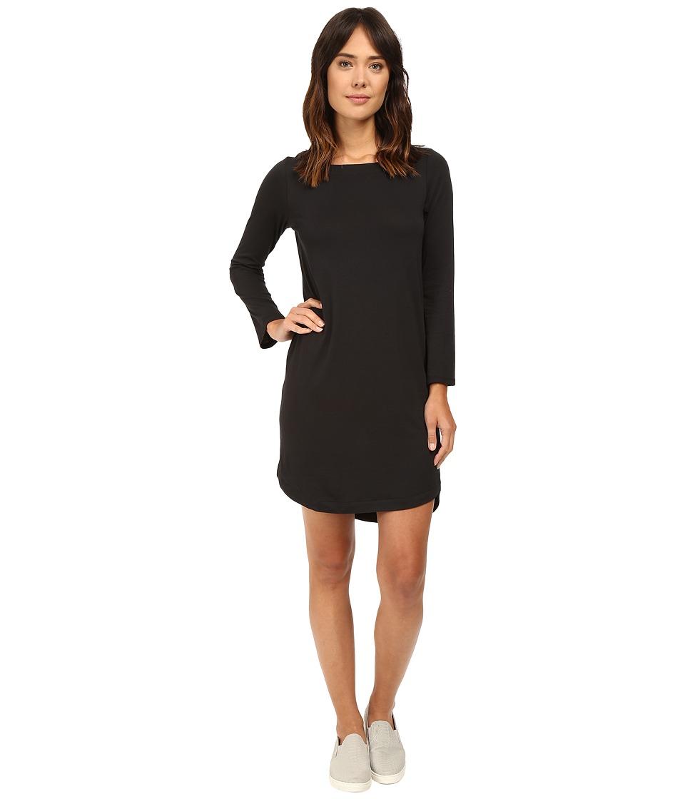 Alternative - East Side Long Sleeve Cotton Modal Dress (Black) Women's Dress