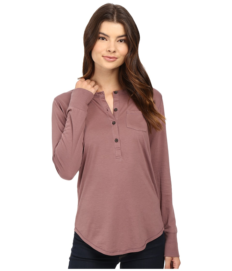 Alternative - Organic Pima Henley (Vintage Rose) Women's Clothing