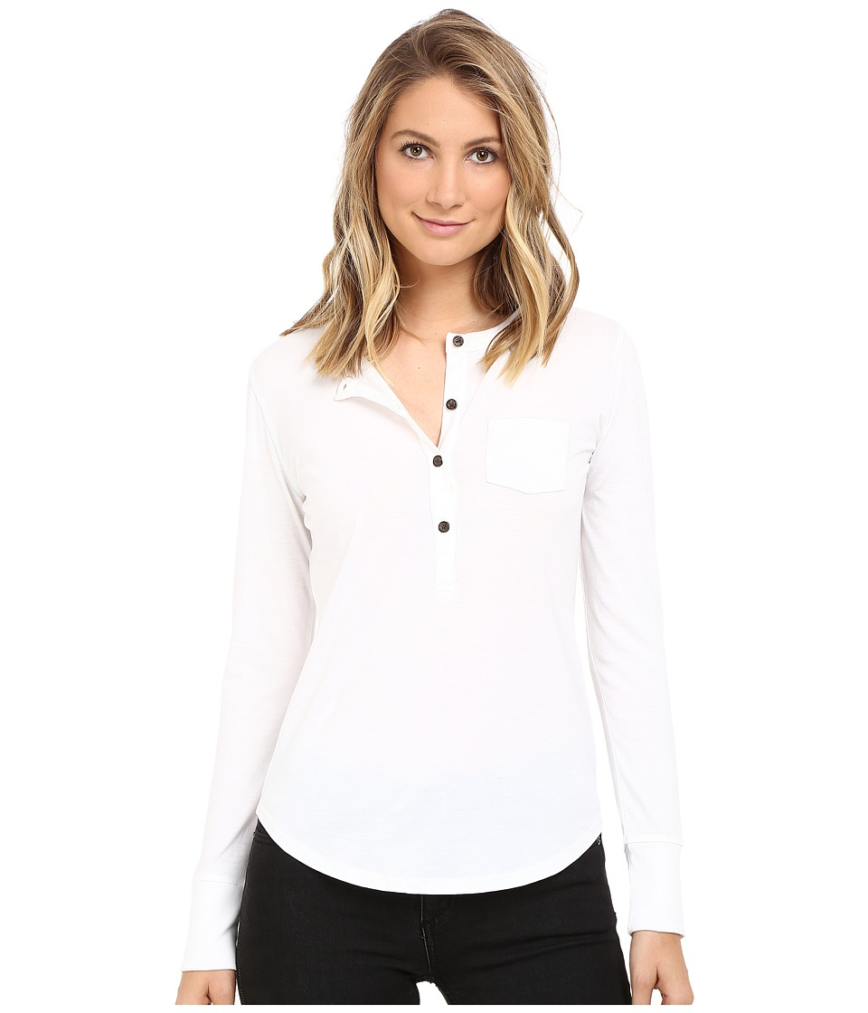 Alternative - Organic Pima Henley (White) Women's Clothing