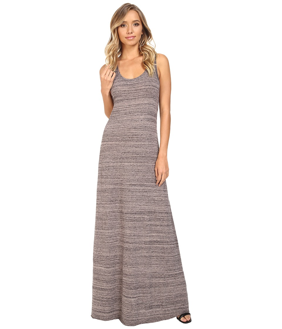 Alternative - Eco Jersey Space Dye Racer Maxi (Hazelnut Overdye) Women's Dress