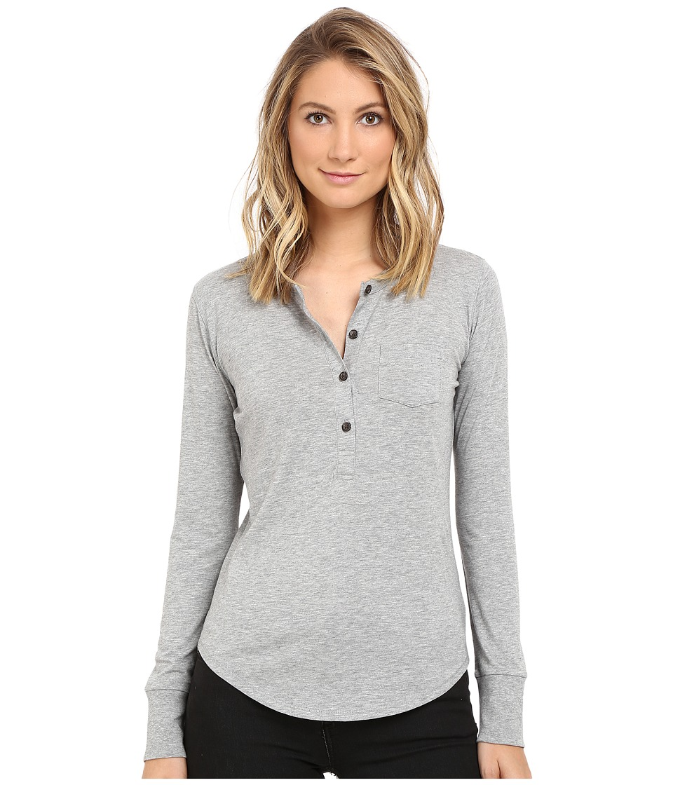 Alternative - Organic Pima Henley (Dublin Grey Heather) Women's Clothing