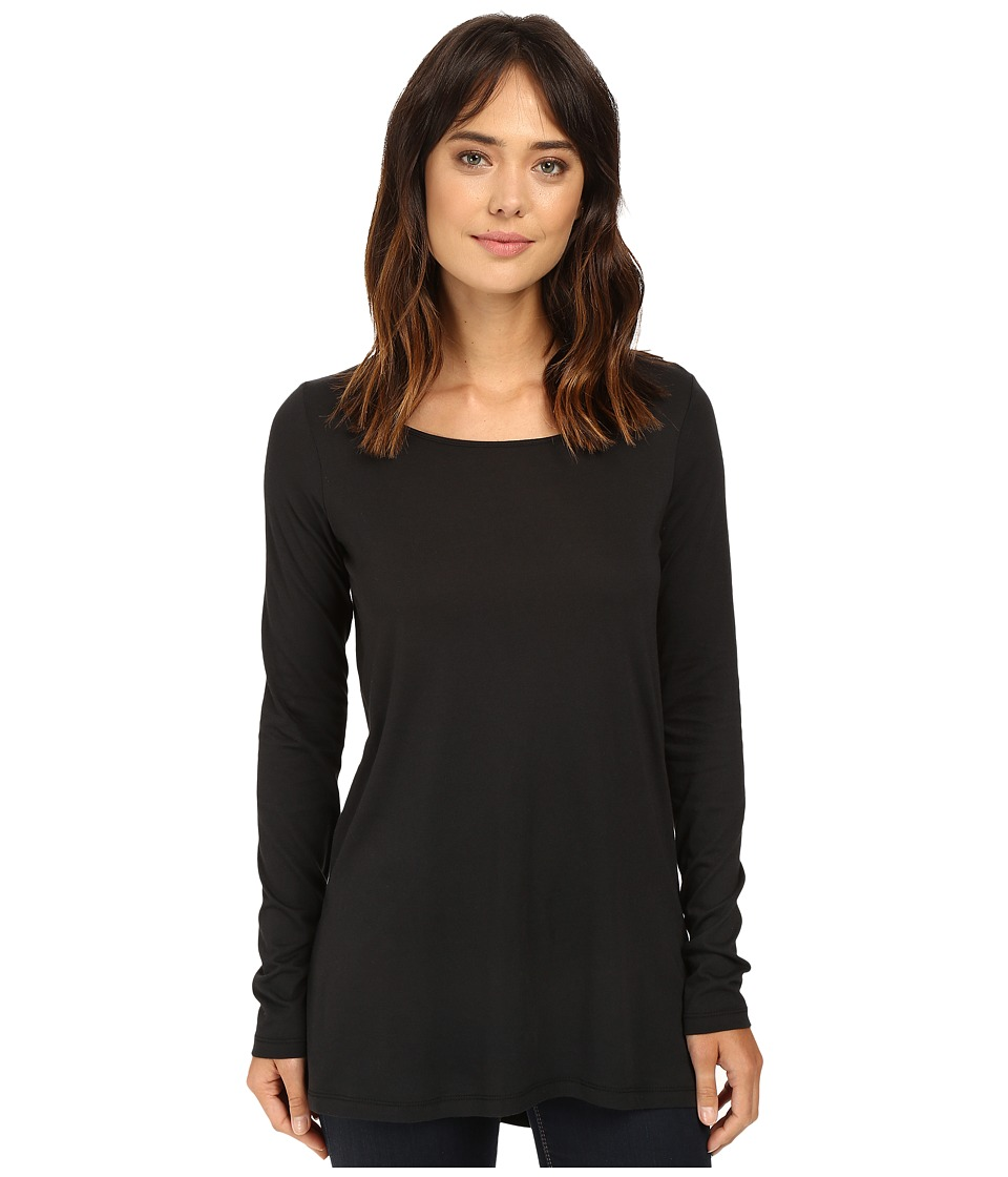 Alternative - Cotton Modal Jersey Around Town Tunic (Black) Women's Clothing