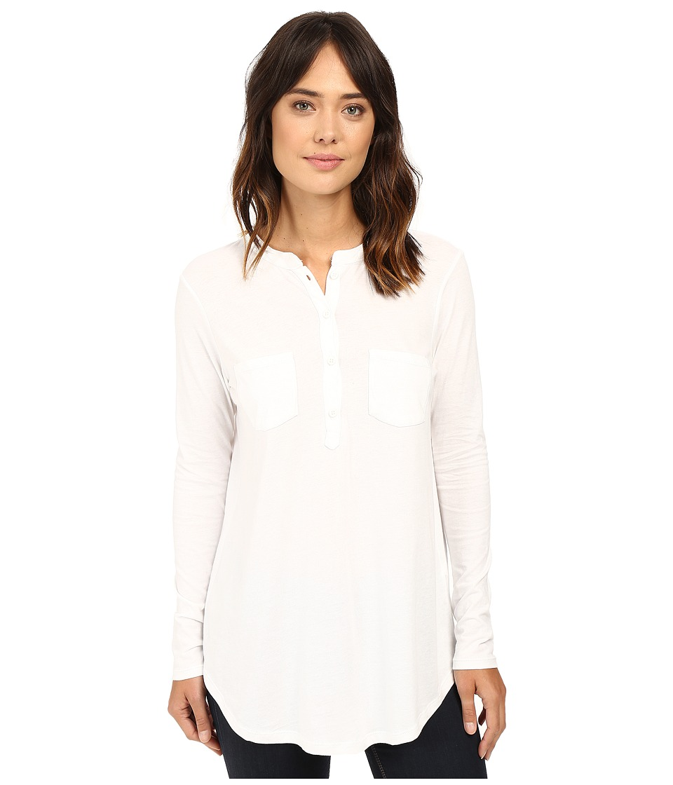 Alternative - Satin Jersey New Day Popover (White) Women's Clothing