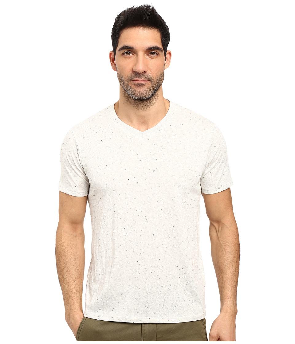 Threads 4 Thought - Tri-Blend Knapp V-Neck Short Sleeve Tee (Ash) Men's T Shirt