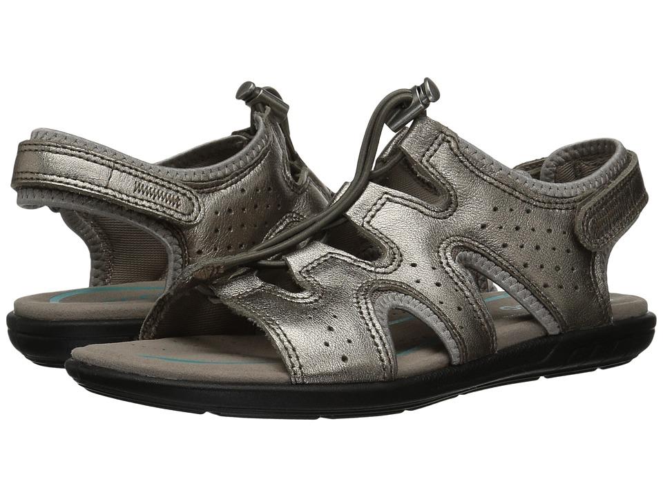 ECCO Bluma Toggle Sandal (Warm Grey Metallic Cow Leather) Women