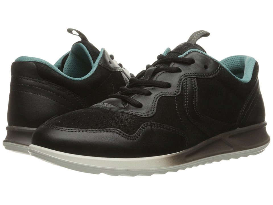 ECCO - Genna Sneaker (Black/Black) Women's Lace up casual Shoes