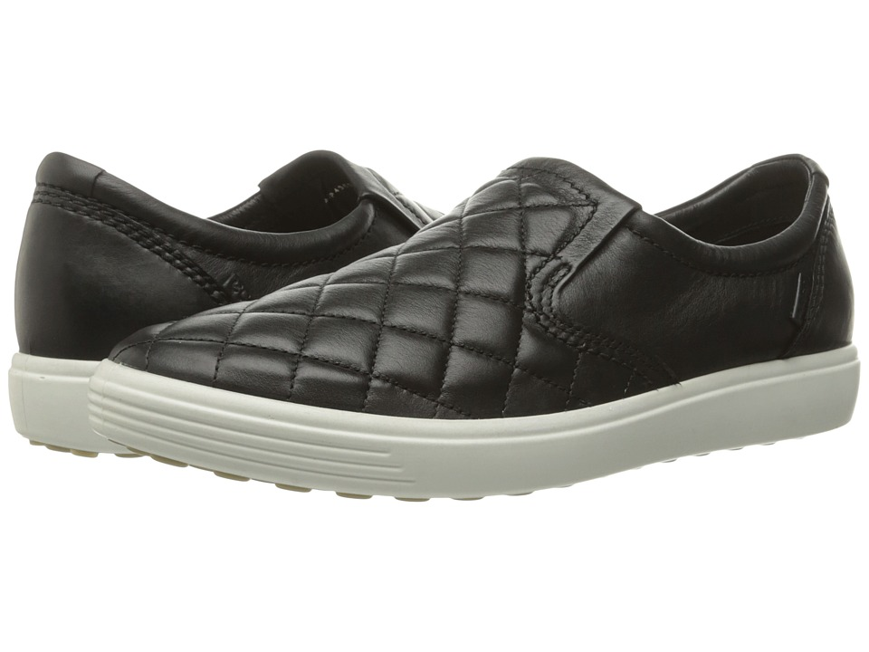 ECCO - Soft 7 Quilted Slip-On (Black/Black 1) Women's Slip on Shoes
