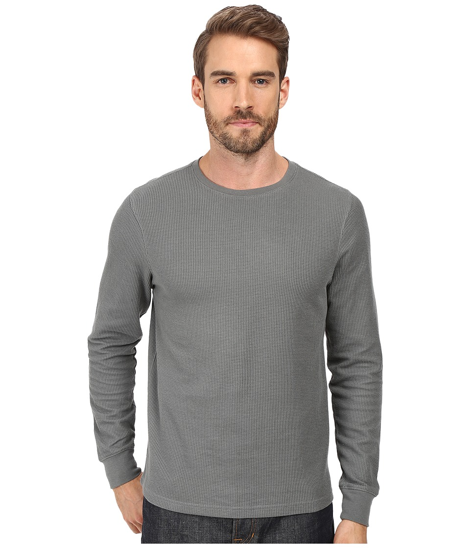 Threads 4 Thought - Rocco Crew Double Face Thermal (Heather Grey) Men's Clothing